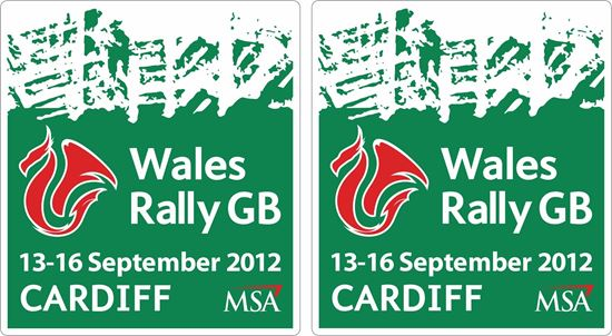 Picture of Wales Rally GB 2012 Decals / Stickers