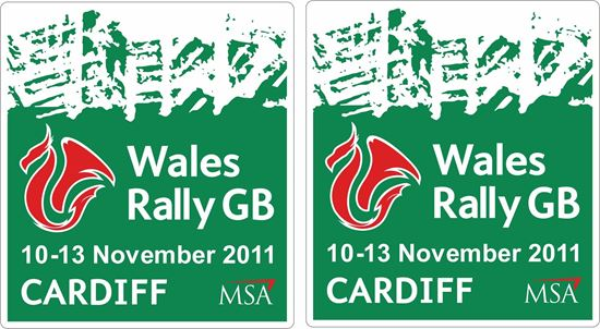 Picture of Wales Rally GB 2011 Decals / Stickers