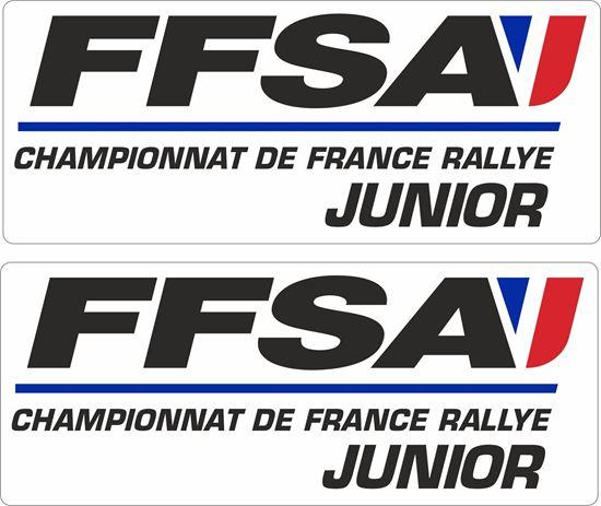 Picture of FFSA Rallye Junior Decals / Stickers