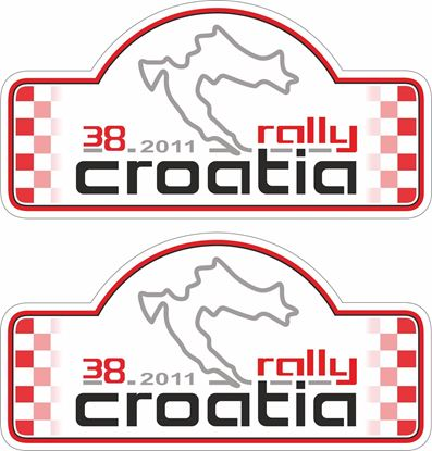 Picture of Croatia Rally 2011 Decals / Stickers