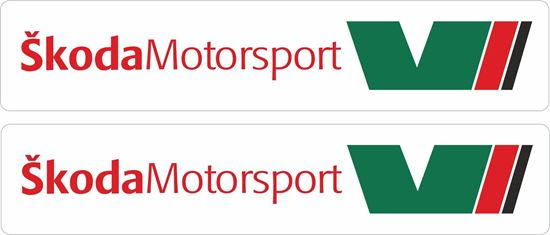 Picture of Skoda Motorsport Decals / Stickers