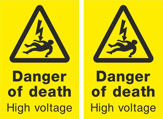 Picture of Danger of death High voltage Decals / Stickers