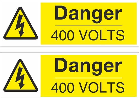 Picture of Danger, 400 Volts Decals / Stickers