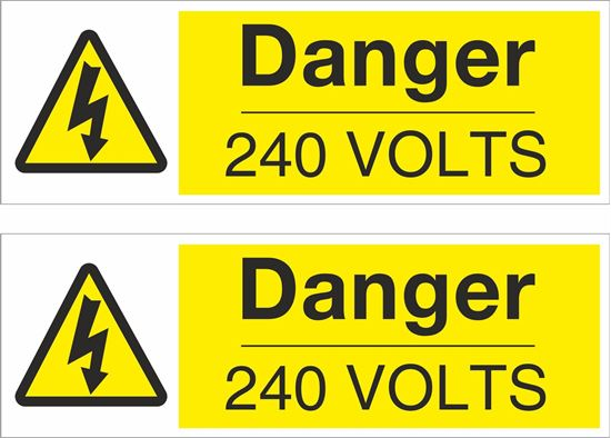 Picture of Danger, 240 Volts Decals / Stickers