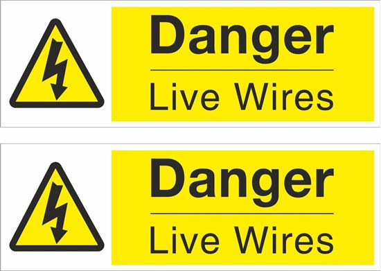 Picture of Danger Live Wires Decals / Stickers
