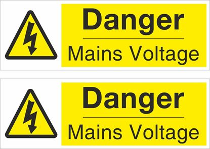 Picture of Danger Mains Voltage Decals / Stickers