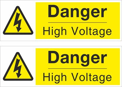 Picture of Danger High Voltage Decals / Stickers