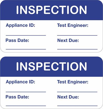 Picture of Appliance inspection  Labels / Stickers