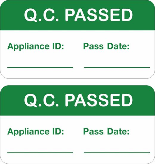 Picture of Appliance Quality Control Passed Labels / Stickers