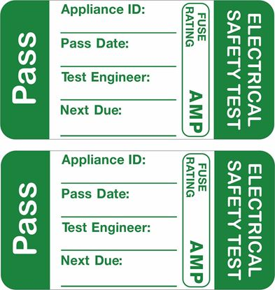 Picture of Appliance Electrical Safety Test Pass Labels / Stickers