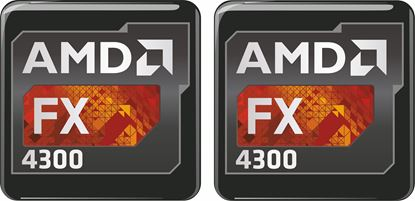 Picture of AMD FX 4300 Gel Badges