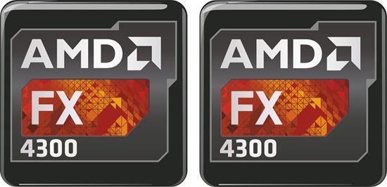 Picture of AMD FX 4300 Gel Badges
