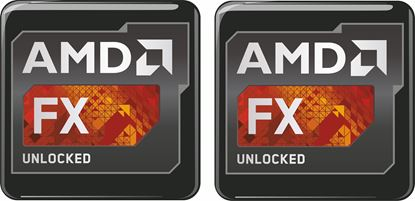 Picture of AMD FX Unlocked Gel Badges