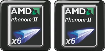 Picture of AMD Phenom II x6 Gel Badges