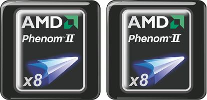 Picture of AMD Phenom II x8 Gel Badges