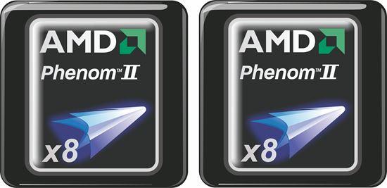 Picture of AMD Phenom II x8 Gel Badges