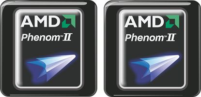 Picture of AMD Phenom II Gel Badges