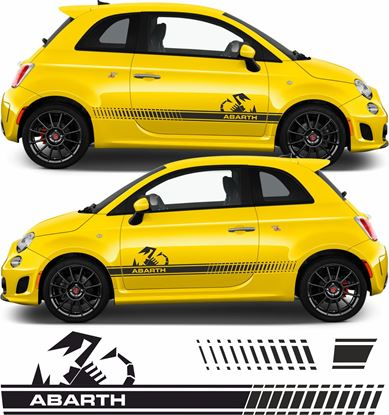 Picture of Fiat 500 Abarth OEM style side Stripes / Stickers FACTORY FIT