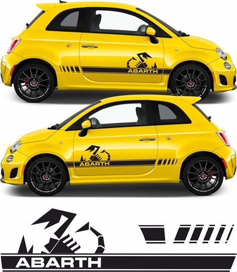 Picture of Fiat 595 Abarth OEM style side Stripes / Stickers FACTORY FIT