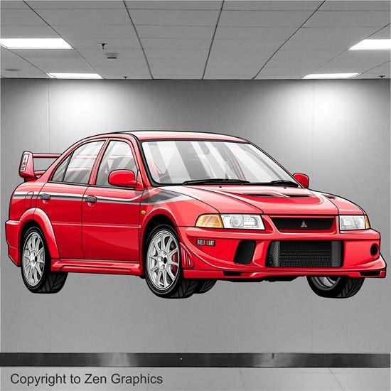Picture of Mitsubishi Evolution 6 Tommi Makinen Edition Wall Art sticker (full colour)