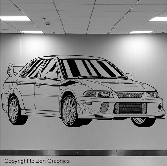 Picture of Mitsubishi Evolution 6 Tommi Makinen Edition Wall Art sticker
