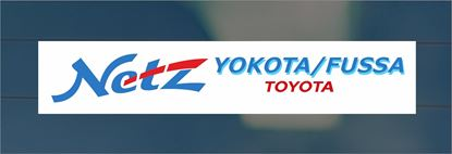 Picture of Toyota Netz Yokota / Fussa Dealer rear glass Sticker
