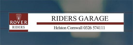Picture of Riders Garage - Helston Cornwall Dealer rear glass Sticker