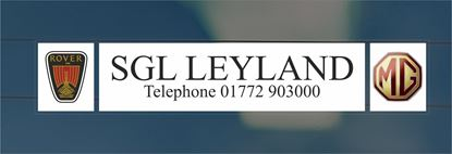 Picture of SGL Leyland MG Rover Dealer rear glass Sticker