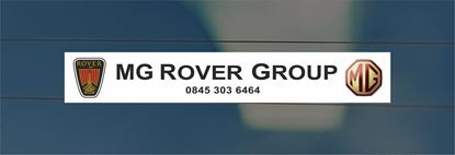 Picture of MG Rover Group rear glass Sticker