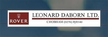 Picture of Lewonard Daborn Ltd - Chobham Dealer rear glass Sticker