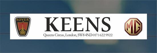 Picture of Keens, London Dealer rear glass Sticker
