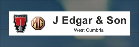 Picture of J Edgar & Son - West Cumbria Dealer rear glass Sticker