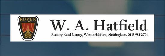 Picture of W.A. Hatfield  - Nottingham Dealer rear glass Sticker