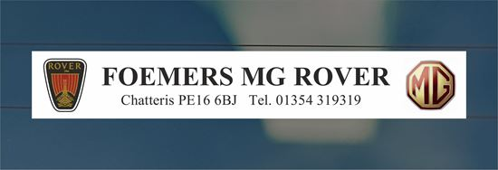 Picture of Foemers MG Rover  - Chatteris Dealer rear glass Sticker