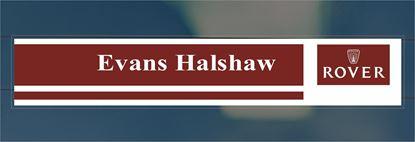 Picture of Evans Halshaw Rover Dealer rear glass Sticker