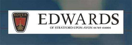 Picture of Edwards - Stratford - Upon - Avon Dealer rear glass Sticker