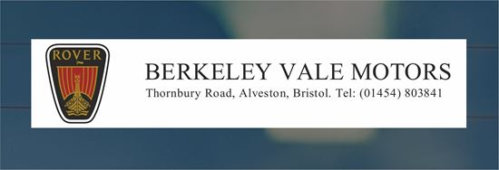 Picture of Berkeley Vale Motors -Bristol Dealer rear glass Sticker