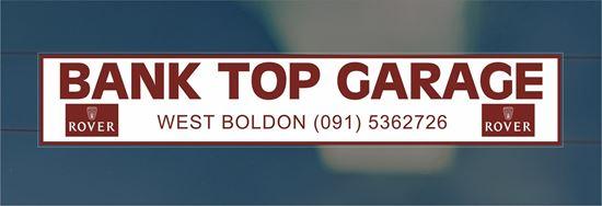 Picture of Bank Top Garage  -West boldon Dealer rear glass Sticker