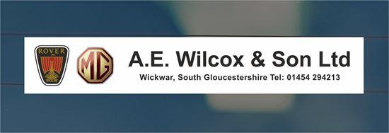 Picture of A.E. Wilcox & Son Ltd - Gloucestershire Dealer rear glass Sticker