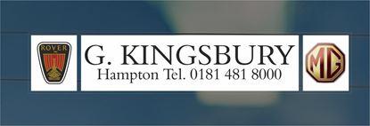 Picture of G. Kingsbury -Hampton Dealer rear glass Sticker