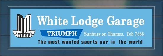 Picture of White Lodge Garage - Sunbury on Thames Dealer rear glass Sticker