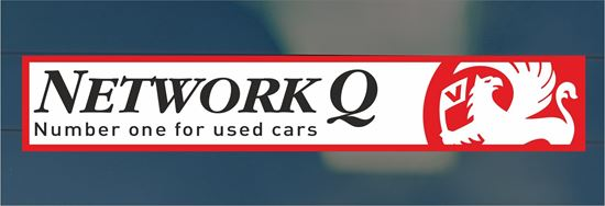 Picture of Network Q Dealer rear glass Sticker