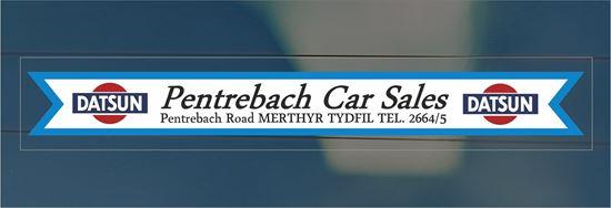 Picture of Pentrebach Car Sales - Merthyr Tydfil Dealer rear glass Sticker