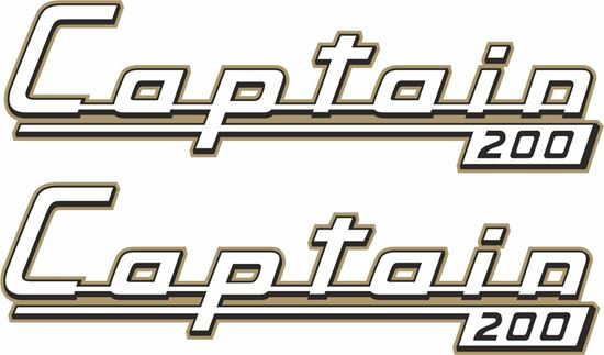 Picture of James Captain 200 Motorcycle Decals / Stickers