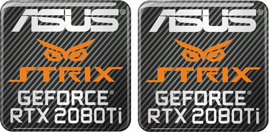 Picture of Asus Strix Geforce RTX 2080Ti Gel Badges