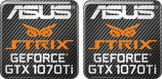 Picture of Asus Strix Geforce GTX 1070 Ti Gel Badges