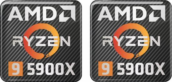 Picture of AMD Ryzen 9 5900X Gel Badges