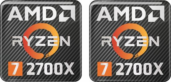 Picture of AMD Ryzen 7 2700X Gel Badges