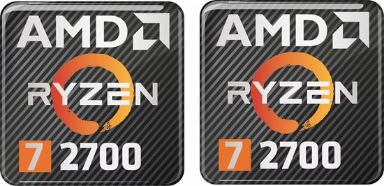Picture of AMD Ryzen 7 2700 Gel Badges