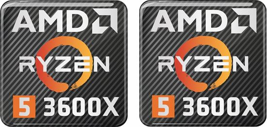 Picture of AMD Ryzen 5 3600X Gel Badges